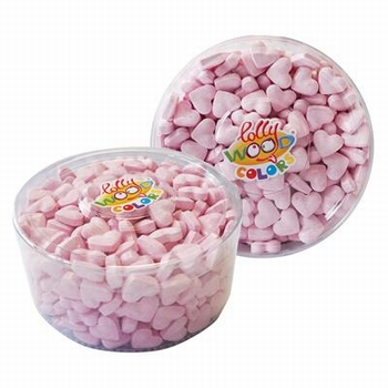 Lollywood Colors Dextrose Hartjes Roze Tubo 850 gram